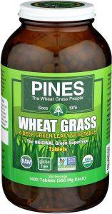 Pines Organic Wheatgrass pills